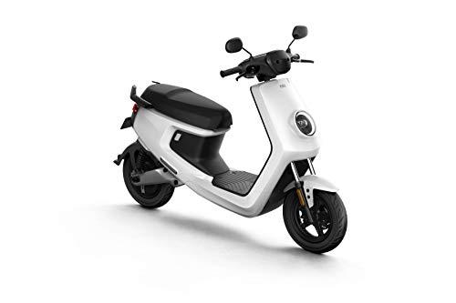 NIU M+ Scooter Elettrico - Panasonic Batteria agli ioni di Litio - Motore Bosch - 100 km di Portata - 45 km/h (Bianco)