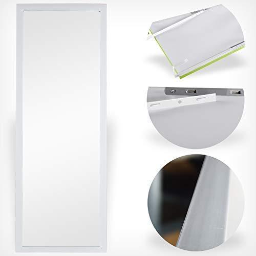 DRULINE Wand- & Türspiegel Spiegelfläche: 30 x 90 cm Farbe: Weiß