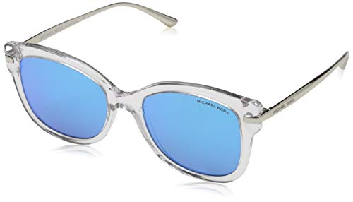 Michael Kors Damen LIA 301525 53 Sonnenbrille, Crystal/Cobaltmirror