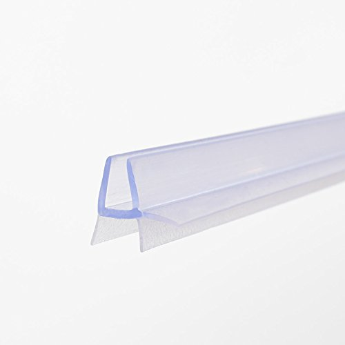Junta de repuesto (100cm) con refuerzo grueso del borde para cristal con un grosor de 4-5mm, para cabina de ducha, con protección contra chorros