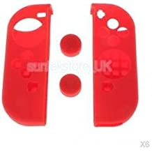 Alcoa Prime 6x Silicone Cover Protective Case Thumb Stick Caps For Nintendo Switch Red
