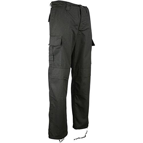 Kombat UK Herren M65BDU Ripstop Hosen,schwarz,36 EU -