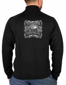 geil bedruckter Biker & Motorrad Zip Sweater / Bike Week ! Größe XXL -