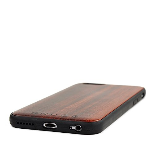 over iPhone 6 e 6S, Snugg Apple iPhone 6 e 6S Custodia Case [Vero Legno] TPU Ultra-Slim Protettiva Pelle - Noce Rosewood