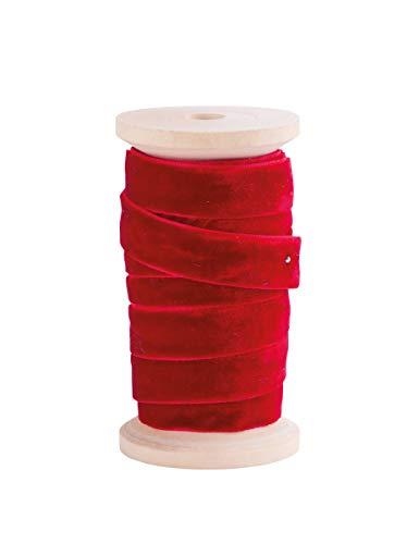 Generique - Ruban en Velours Rouge 13 mm x 5 m