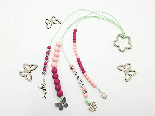 Rechenkette Mädchen, Rechenkette rosa pink, Zählkette für Mädchen, Rechenkette Name, 1. Schultag Mädchen Geschenk
