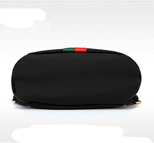 BAAFG Mode Rucksack Casual Lady Rucksack Einfache Reisetasche Black