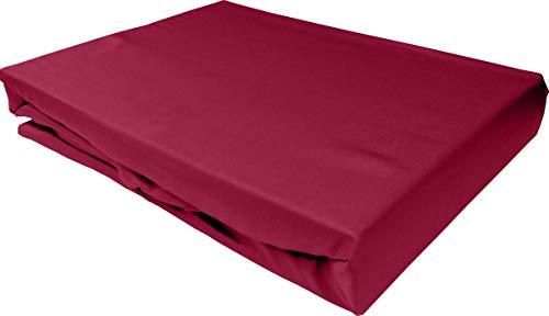 Bettwaesche-mit-Stil Mako Satin Spannbettlaken Spannlaken Spannbetttuch (180 cm x 200 cm, Matratzenhöhe 12-20 cm, Pink)