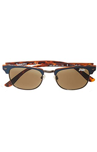 Superdry Herren SDR LEO Sonnenbrille, Mehrfarbig (Navy/Torf), 50.0