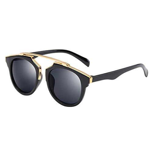 Atdoshop Clubmaster clubma Retro Vintage Sonnenbrille im angesagte 60er Browline-Style mit markantem Halbrahmen Sonnenbrille,Brillen trends 2017 (B)