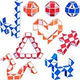 9 Pezzi 24 Blocchi Mini Cubo di Serpente, Cubi velocità Magici, Mini Giocattolo Puzzle Cubo di Plastica per Bambini Festa Sacchetto di Riempimento, Bomboniere per Feste (Colore Casuale A)