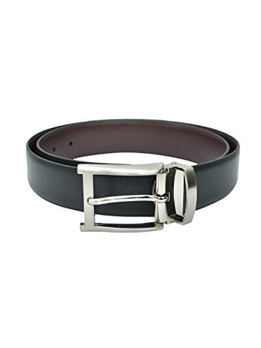 Pacific Gold Men's Classic Reversible Black & Brown Leather Belt...