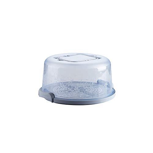 Tragbare Kuchen und Kuchen-Fördermaschine mit Handgriff Vorratsbehältern Perfekt für den Transport von Kuchen Kuchen Torten oder anderen Desserts-Light Blue Light Blue Dessert