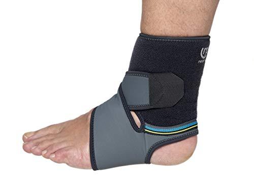 PRIM NEOPRAIR | Tobillera Envolvente | Neopreno | Dolor articular/Esguinces/Tendinitis | Uso deportivo | Talla única, Bilateral | Color Gris y Azul
