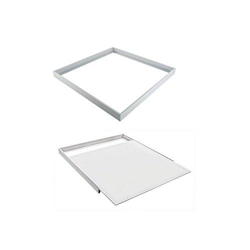 Vision-EL 773981 Kit Pose pour Plafonniers, Aluminium, Blanc, (L (L x I x H)-600 x 600 mm