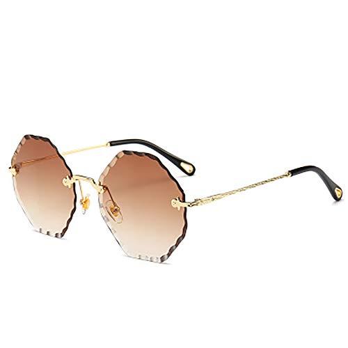 FYrainbow Sonnenbrille, Fashion Damen Sonnenbrille achteckiger Typ am besten für Angeln Golf Outdoor-Reisemöglichkeiten UV400,B