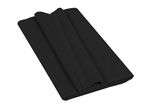Betttuch - Haustuch - Bettlaken - aus 100{1b17a980a6055379f94c8a830d1473059d62d882eafff6b71f95da5673c08663} Baumwolle in 7 ausgesuchten Farben - Laken ohne Gummizug - Einheitsgröße von ca. 150 x 250 cm, schwarz