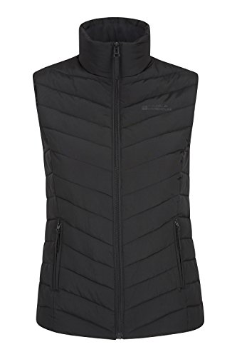 Mountain Warehouse Windemere Womens Padded Gilet - Extra Warmth Body Warmer, Pockets, Full Zip Ladies Vest Jacket - For Summer Travelling, Camping