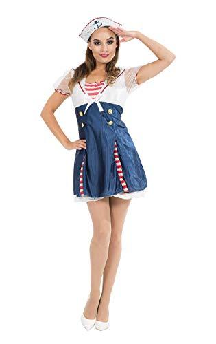 Matrose Damen Für Kostüm Pailletten Erwachsene - Unbekannt Sailor Dress Costume