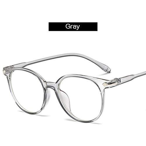 YLNJYJ Sonnenbrillen Optische Runde Brillengestell Frauen Mode Vintage Computer Brille Männer Brillen Klare Linse Retro Brille