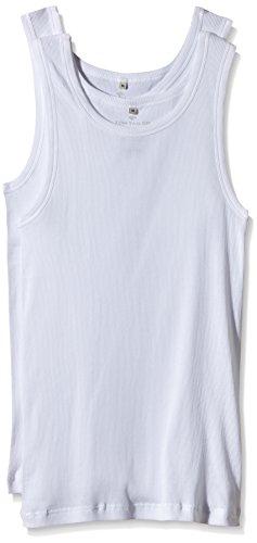 TOM TAILOR Underwear Herren Tanktop 2er Pack Unterhemd, weiß-1000, Large (Herstellergröße: L/6) (erPack 2 -