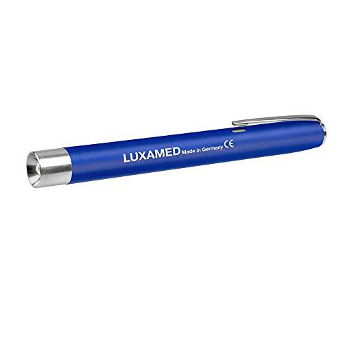 Triple-glühlampen-leuchte (Luxamed Diagnostikleuchte mit Glühlampe Pupillenlampe Pupillenleuchte 2,2 Volt inkl. 2 AAA Batterien blau)