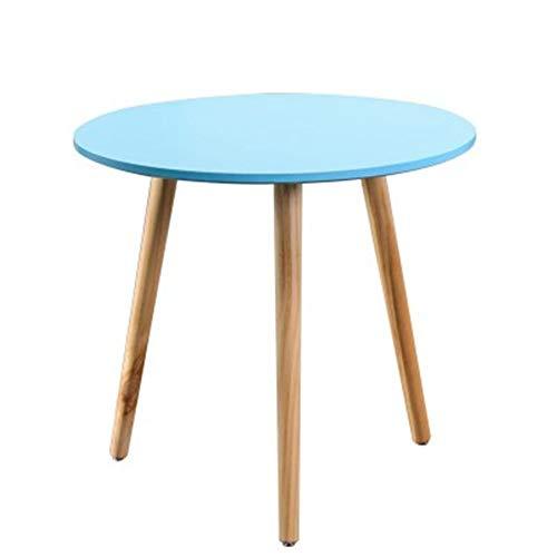 Exing Schreibtisch, Massivholz Picknick im Freien Schreibtisch Portable Grill Tisch Einfache kleine Wohnung Tisch Mini Tee Schreibtisch - Blau/Gelb (Farbe : Blau) -