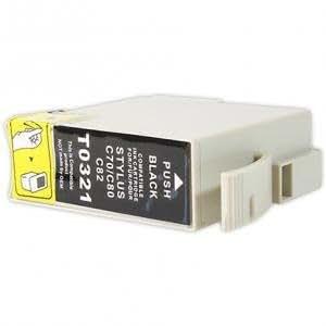 Cartouche d'encre Compatible pour imprimante Epson Stylus c80 - Stylus C 80 - Noir avec puce
