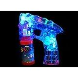 Big Fun Battery Powered Electronic Bubble Gun Toy With Amazing Flashing LED Lights