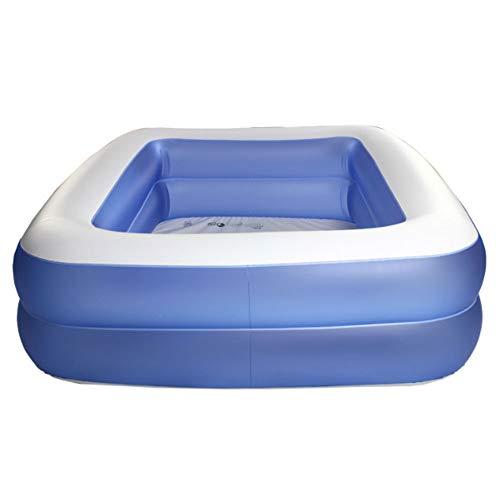 SuperGao Badewanne Aufblasbare Badewanne PVC Aufblasbare Pool Blasen Haushalt Erwachsene Schwimmbad 305x183x50cm