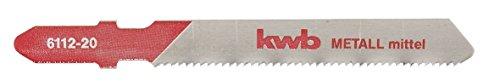 kwb Stichsägeblätter Profi-Pack für Metall 611225 (mittel, HSS, Einnockenschaft, T118A) u. a. für Einhell RT-JS 85