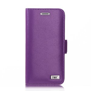 FYY Samsung Galaxy S9 Hülle, Samsung S9 Hülle, [Echtes Leder] handgemachte Brieftasche Hülle mit [Information Anti-Leckage Schutztechnik] und [Ständer-Funktion] für Samsung Galaxy S9,Violett
