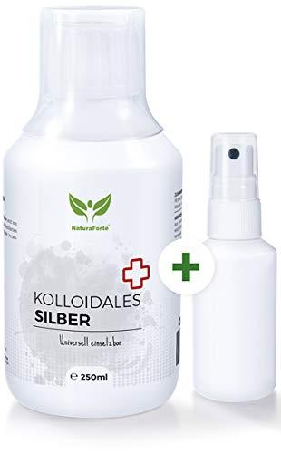 NaturaForte Kolloidales Silber 250 ml hoch konzentriert, QualitätsID 506 M 04, Plus Gratis...
