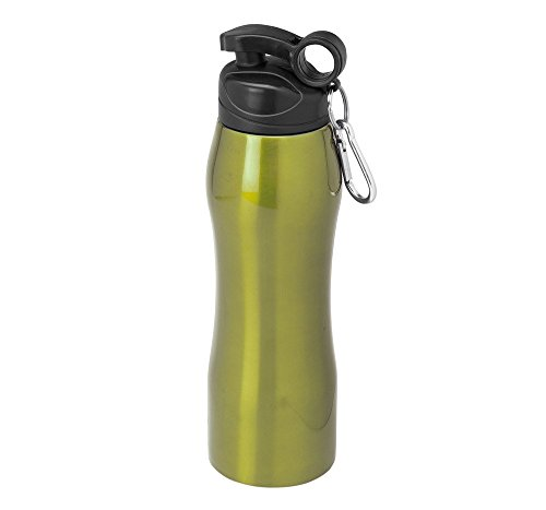 Kimood KI3105-Bottiglia in acciaio INOX, 750 ML verde taglia (Verde 750ml Bottiglia)