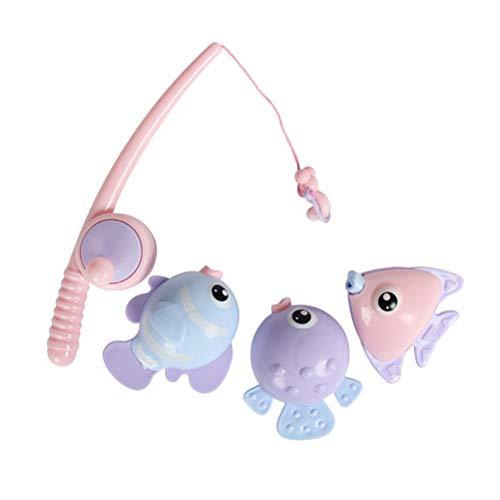 TOYANDONA 4 STÜCKE Magnetic Fishing Toy Kinder Spielen Angeln Spielzeug Badespielzeug Sommer Angeln Set
