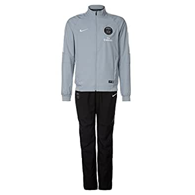 2014-2015 PSG Nike Woven Tracksuit (Grey)
