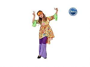Atosa - Disfraz de hippie para niña, talla 7-9 años