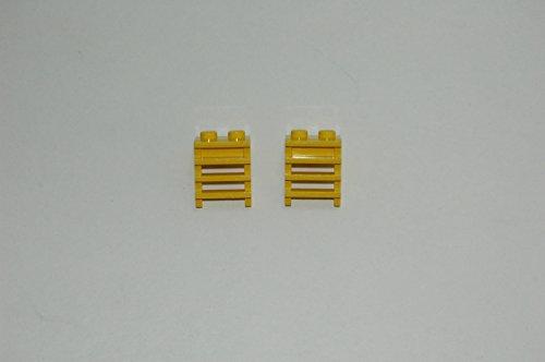 Gebrauchte Bausteine Ersatz für Lego System 2 Lego Eisenbahn Train Leiter Treppe GELB KOMPATIBEL MIT Lego Eisenbahn System