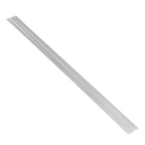 MASUNN 10Pcs 2.4 Mm * 50Cm Métal Aluminium Soudure Basse Température Tige De Brasage pour Outil De Réparation