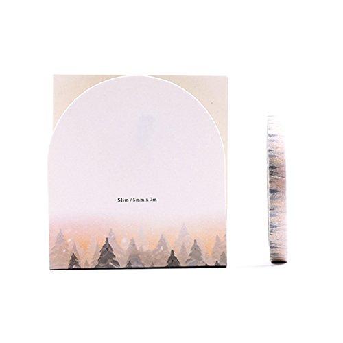 Washi Tape Papier Masker Tape für Heimwerker Craft Scrapbook Fotoalbum Dekorative Aufkleber dünn Muster Style 5mm * 7M 2 7m*5mm wald
