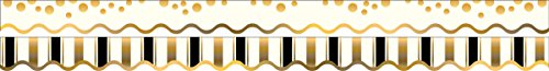 Barker Creek - Office Products Double-Sided Bulletin Board Border Scalloped Edge, Gold Coins, 39' (LL-903) by Barker Creek - Office Products Scalloped Gold