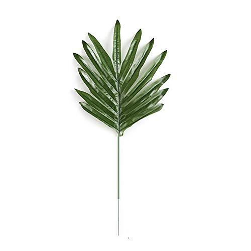 CAN_Deal 20 Stück Künstliche Ombre Kwai Blatt-Zweig-gefälschte Palme-Anlagen Gras-Blume für Hauptwand-Garten-Hochzeit DIY Dekoration, Mittel, Dunkelgrün