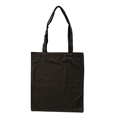 Stoffbeutel aus Baumwolle mit langen Henkeln ca. 38 x 42 cm,Schwarz