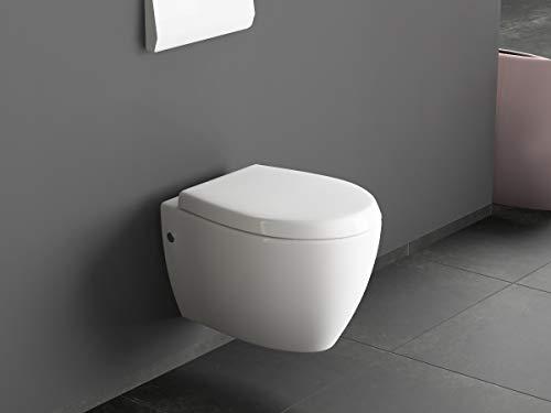 Aqua Bagno Design Hänge Dusch-WC mit Bidet/Taharet-Funktion inkl. Softclose Sitz -