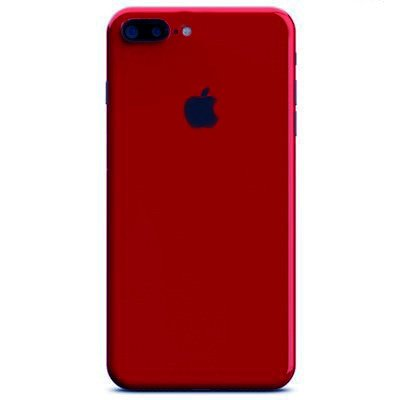 GADGETS WRAP Apple iPhone 7 Plus (5.5) Glossy Red Full Skin Back Only. A1B04