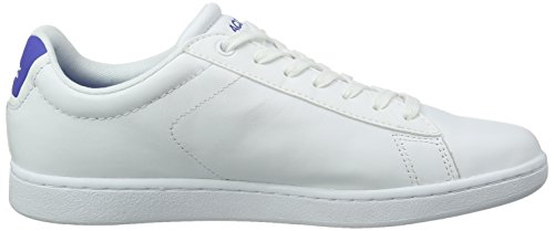Lacoste Carnaby Evo S216 2, Baskets Basses Homme Multicolore (Wht/Blu)