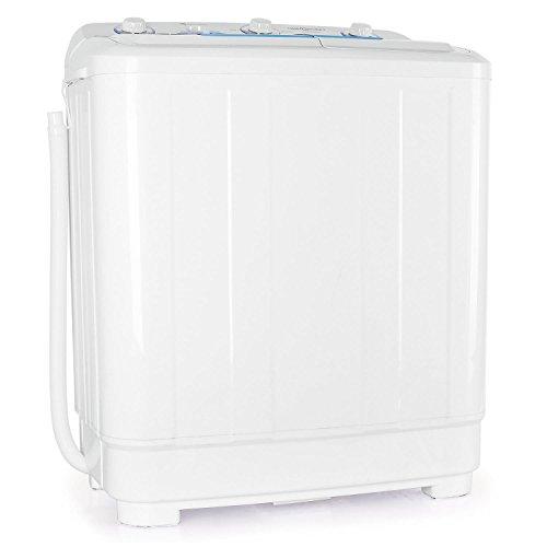 oneConcept DB005 • Mini-Waschmaschine • Camping-Waschmaschine • Waschmaschine für Singles • 8.5kg Volumen • Wäscheschleuder • 520 W Waschleistung • 200 W Schleuderleistung • Timer • 2 Programme • weiß