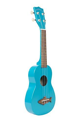 Makala MK-SS-BLU - Ukulele soprano, finitura satinata vintage, colore: blu