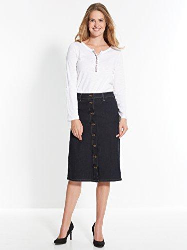 Balsamik - Jupe en jean boutonnée - femme Denim brut