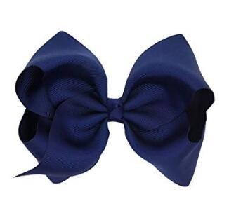Clip pelo lazo grande niñas azul oscuro Talla:1